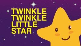 Twinkle Twinkle Little Star Nursery Rhyme With Lyrics - Cartoon Animation Rhymes And Baby Songs