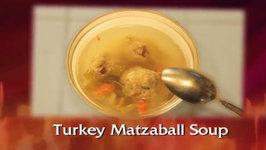 Turkey Soup With Stuffed Matzaballs