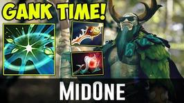 MidOne Nature's Prophet GANK TIME Dota 2