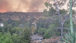 Fire Whirls Spotted as La Tuna Fire Burns North of Los Angeles
