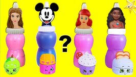 LEARN COLORS - Mickey Mouse and Disney Princess SLIME SURPRISES Slime Belly Surprise