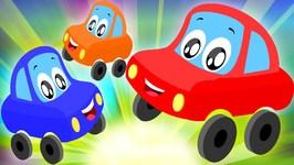 Little Red Car Rhymes - Five Little Babies - Nursery Rhyme - Funny Car