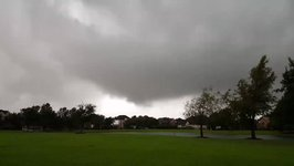 Funnel Cloud Swirls Near Tornado-Warned Cypress