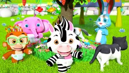 Here We Go Round The Mulberry Bush - Kindergarten Nursery Rhymes Cartoon Video