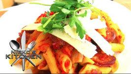 Chorizo And Roast Vegetable Pasta