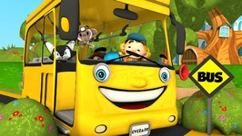 Wheels on the Bus - Yellow Wheels on the Bus - Kindergarten Song for Kids