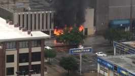 Fire Blazes in Houston Office Building