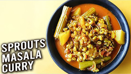 Sprouts Masala Curry / How To Make Moong Curry / Sprouted Mung Beans Curry Recipe / Varun
