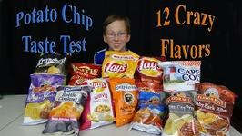 Potato Chips Taste Test  12 Crazy Flavors