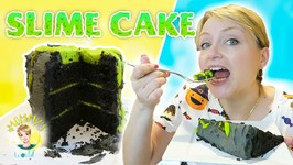 Edible Slime Cake for Halloween or Ghostbusters Birthday