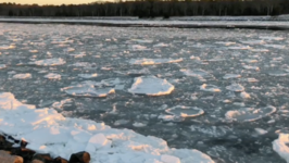 Ice Floats Down Cape Cod Canal as Cold Spell Continues