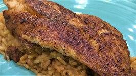 Blackened Fish And Jambalaya On Weber Kettle