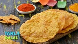 Instant Whole Wheat Masala Papad - Hindi