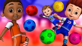 Learn Colors with Football - Kids Play with Colorful Football Soccer Balls - ChuChu TV Funzone Games