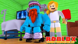 SHARKY BREAKS HIS LEG !!!! Sharky Gaming - Roblox
