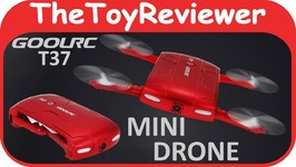 GoolRC T37 Mini Flying Drone Quadcopter Camera Video Cheap Unboxing Toy Review