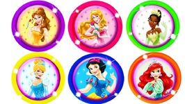 Disney Princess Play Doh Can Heads Ariel Fun Surprise Toys for Kids Frozen Elsa Modeling Clay