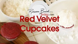Red Velvet Cake - Cupcakes With Cream Cheese Frosting