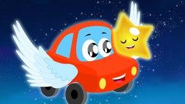 Little Red Car Rhymes - Twinkle Twinkle Little Star - Car Songs - Nursery Rhymes