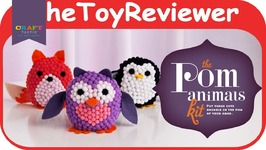 Craft-tastic Pom Stuffed Animals Kit DIY Owl Penguin Fox Felt Unboxing Toy Review
