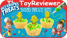 Kellogg's Rice Krispies Treats Bird Nest Kit Easter Snack Unboxing Toy Review
