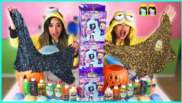 Twin Telepathy Slime Challenge! Halloween Edition