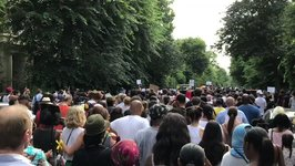 Silent March for Grenfell Tower Victims Moves Through West London