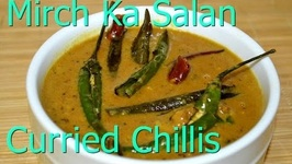 Mirch Ka Salaan Or Curried Chilies In Yogurt