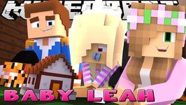 LITTLE KELLY MEETS BABY LEAH!! - Minecraft - Little Donny Adventures
