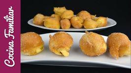 Buñuelos rellenos con crema pastelera - Recetas caseras
