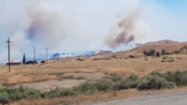 Smoke Rises From Elm Fire, Near Coalinga
