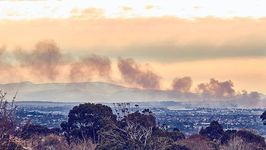 Timelapse Shows Smoke Rising From Melbourne Recycling Centre Fire