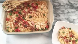 Baked Macaroni and Cheese with a TwistCavatappi, Bacon Pimientos