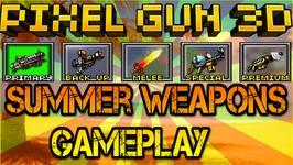 Pixel Gun 3D - Summer Weapons Gameplay
