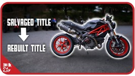 From Salvaged To Rebuilt Motorcycle Title Wrecked Bike Rebuild - Ep 16 - Ducati Monster 1100