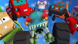 Road Rangers Vs Haunted House Monster Truck - Ep 29