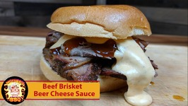 Kamado Joe Beef Brisket with Beer Cheese Sauce