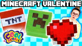 Minecraft Valentine's Day DIY Gifts for Candy - Arts and Crafts with Crafty Carol