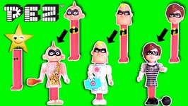 Incredibles 2 PEZ CANDY DISPENSERS -Dress-Up Game- Funny Costumes- Body Parts - Toys