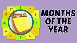 Learn Months Of The Year For Kids - Basic English Lessons - English Vocabulary And Preschool Learning