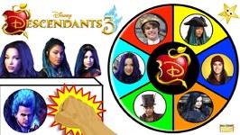 Win Goldie's Treasure of DISNEY DESCENDANTS 3 MOVIE Dolls in the Spinning Wheel Game