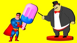 Superman Magic candy Ice cream finger family song Sumo man magic finger song