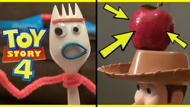 Toy Story 4 Forky Shooting Apple Off Woodys Head - Bow And Arrow