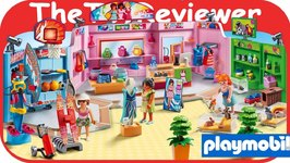Playmobil Shopping Plaza 9078 Girls Mall Pet Shop Fashion Unboxing Toy Review