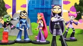 Teen Titans Go Nightwing Battles Blackfire And Jinx Transforms Into Funko Pop A Teen Titans Go Parody