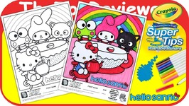 McDonalds Hello Sanrio Happy Meal Coloring Page Hello Kitty Unboxing Toy Review