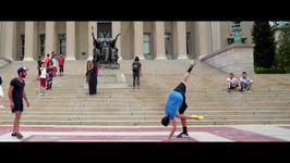 Freestyle Frisbee Players Show Off Their Skills
