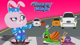 Snail Road - Bunny Ninja Cartoon Show - Fun Kids Video