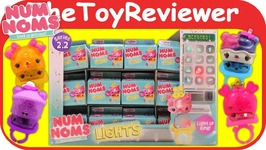 Full Case Series 2-2 Num Noms Lights Light-Up Rings Blind Bags Unboxing Toy Review