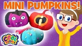 Mini Pumpkin Craft - Halloween Crafts - Crafty Carol - Crafts for Kids - Cartoons for Kids